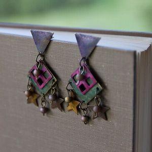 Jewelry - Metal dangle earrings